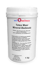 Totes Meer Mineral Badesalz / Totes Meersalz 1,0 kg Dose - 100% naturreines Salz