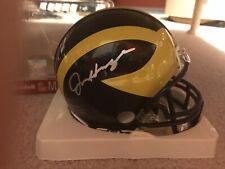 Jim Harbaugh Michigan Wolverines Signed Riddell Mini Helmet COA Colts Bears