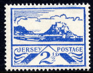 1943 - 1944 2½d Blue Jersey SG7a= JW28 2nd Printing Unmounted Mint