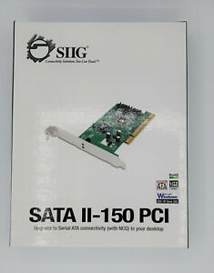 SIIG SATA II-150 PCI - storage controller - SATA 1.5Gb/s - PCI | SC-SA0012-S1