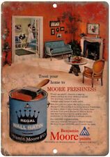 "Benjamin Moore Paints Regal Vintage Ad 10"" X 7"" Reproduction Metal Sign Z64"