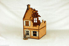 WW2 EUROPE DESTROYED TERRACED HOUSE – 2  28mm Laser cut MDF Building & Terrai...