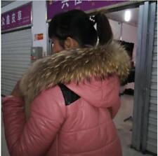 Real Raccoon Fur Collar Scarf/Shawl/Wrap Neck cap Warmer Scarves 70*13cm