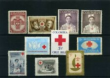 RED CROSS of COLOMBIA  used-   Lot