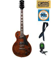 Oscar Schmidt Washburn Quilt-Top LP Style Guitar FREE STRINGS STRAP TUNER, OE20