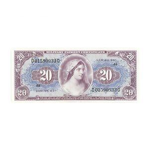 US MPC 20 Dollars Series 691 Superb Gem Unc.