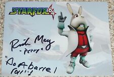 "Autographed Star Fox 64 photo signed by Voice Actor Rick May ""PEPE"""