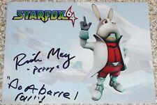 """Dédicacé Star Fox 64 Photo Signée par voix acteur Rick peut """"Peppy"""""""
