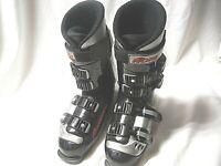 Vintage Rossignol GRAND PRIX NORDICA Ski Boots Black Men's 8 Womens 10 Mens 8