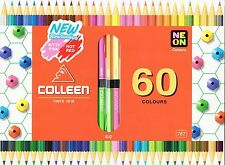 Colleen 60 Colors 30 Pencils Double End Hexagon
