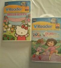 Vtech V Reader Games Dora the Explorer Hello Kitty Age 3 to 5 Lot of 2