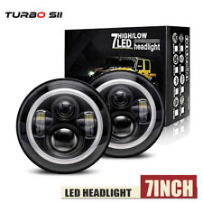 """DOT 7"""" inch Round LED Headlights Pair Halo For Triumph Spitfire TR6 7 8 GT6 LXL"""