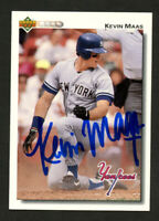 Kevin Maas #377 signed autograph auto 1992 Upper Deck Baseball Card