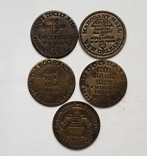 5 Solid Brass Brothel Cat House House Tokens 5