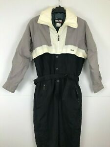 Vintage 80's/90's HEAD Sportswear Men Medium M Snow Ski Suit Belted Zip Snap I2