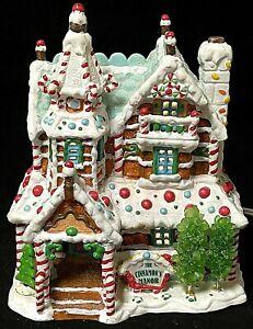 Rare Lemax The Cinnamon's Manor Sugar N Spice Christmas Light-Up Village House