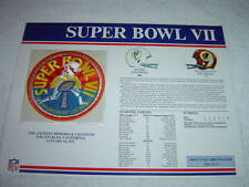 SUPER BOWL VII PATCH 1973 W&W NFL DOLPHINS vs REDSKINS