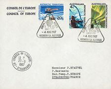 "ELDO-3A FDC AUSTRALIE WOOMERA ""Lancement Fusée EUROPA I - Vol F.6/1."" 1967"