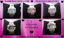 Hello Kitty Crystals Silver Bangle Watch for Girls / Women Great Birthday Gift