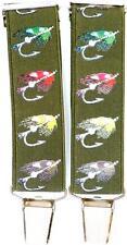 Mens Fly Lure Braces Fishing Gift Design Suspenders Ideal Present For Fishermen
