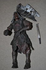 LORD OF THE RINGS BATTLE 5 ARMIES MORDOR URUK-HAI ORC CAPTAIN SHAGRAT TOYBIZ 6""