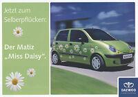 1 Daewoo Matiz Daisy Prospekt 2003 brochure prospectus prospecto prospetto Auto