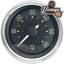 Vw Beetle T1 >67 52mm Rev Counter Tachometer 6000rpm 12v Digital Smiths Oe Style
