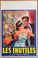 Plakat Belgischer Les Vitelloni Alberto Sordi Federico Fellini ~ Fabrizi Bal