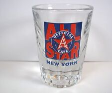 Souvenir heavy shot glass ALL Star Official Cafe New York red blue