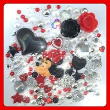 Disney Minnie Mouse Theme Red Cabochon Gem & pearl flatbacks decoden crafts #1