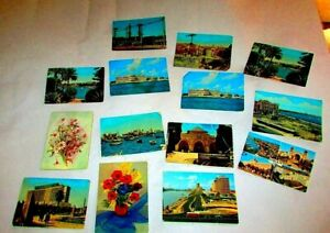 Lot Of 14 Antique Printed Pictures, Vintage Photos Of Cairo 1970's