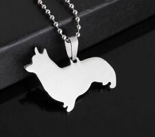 Brand New Big Stainless Steel Pembroke Cardigan Welsh Corgi Dog Pendant Necklace