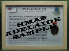 HMAS ADELAIDE (III) (L01) Badge framed and sealed
