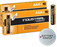 20 x Duracell AAA Industrial ~> Procell Alkaline Batteries MN2400 Retail Boxes!