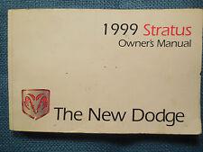 1999 Dodge Stratus Owner's Manual