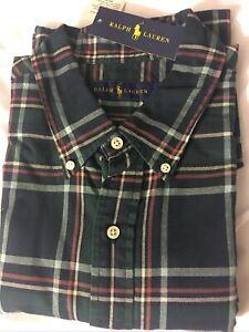 Poli Ralph Lauren NWT classic fit RL mens dress Shirt Size XL Green/Multi Color