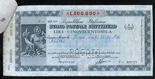 BUONO POSTALE FRUTTIFERO DA LIRE 500.000 EMESSO NEL 1986