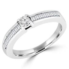 Multi Stone Ring In 0.925 Silver 0.93 Ctw White Round Cubic Zirconia