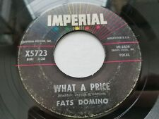 FATS DOMINO What a Price / Ain't That Just Like A Woman 1961 R&B BLUES Imperial