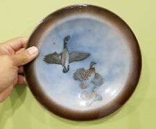 Large Enamel Metal Plate by Edward Winter in United States of Geese in Flight