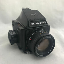 Vintage Mamiya 645J Medium Format Film Camera with 80mm Lens & Case