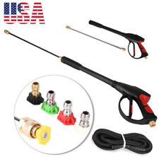 New Power High Pressure Water Cleaning Spray Gun Lance Hose Nozzle Kit 4000PSI