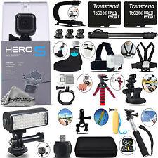 GoPro Hero 5 Session 4K Ultra HD, 10MP, Wi-Fi Camera + 32GB - Loaded Saving Kit