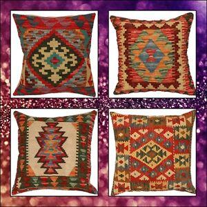 NEW STOCK Handmade Oriental Kilim Cushion Covers, Vintage Turkish look cushions