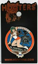 HOOTERS RESTAURANT AH-64 APACHI HELICOPTER GIRL FT CAMPBELL TN TENNESSEE PIN