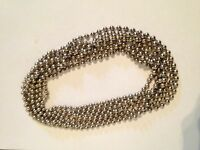 ROLLER / ROMAN BLIND CONTINUOUS LOOP NICKEL BEADED CHAIN  - 1 MTR DROP