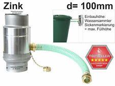 Zink Fallrohr Wassersammler Regensammler mit Schlauch d=100mm frostsicher