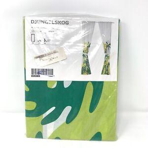 """Ikea Djungelskog Design S Edholm/ L Ullenius Curtains 47"""" x 98"""" Kids Room Jungle"""