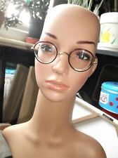 ANTIQUE SPECTACLES ALGHA GOLD TONE - UNTESTED SHELL EFFECT RIMS SPRING HOOK ARMS