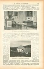 Salon Maison Jean-Jacques Rousseau à Chambéry Savoie /Mme de Warens GRAVURE 1905